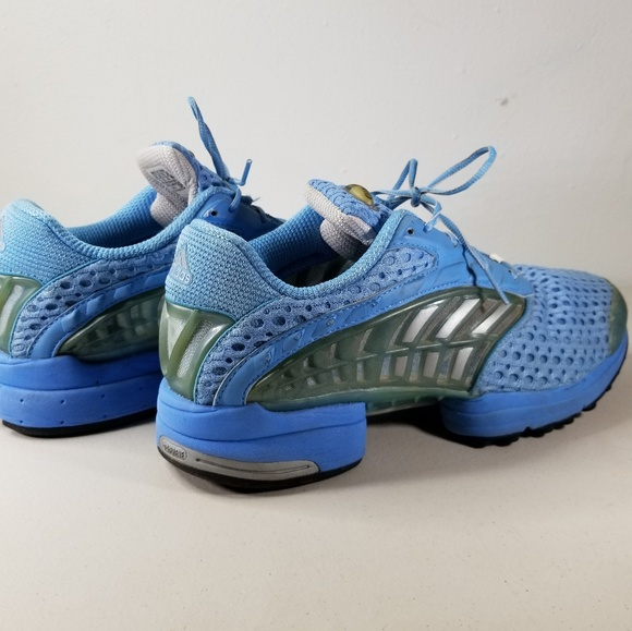8f3d01a1252c Adidas Mens Light Blue Vented Running Shoes Sz 11